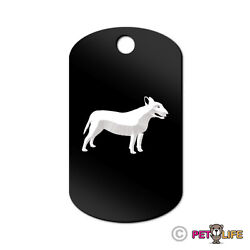 Bull Terrier Engraved Keychain GI Tag dog bully pit bull Many Colors
