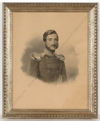 Charles Backofen Ca.1801-aft.1860 Portrait Of A German Military Officer