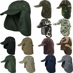 Ear Flap Neck Cover Sun Hat Baseball Camo Military Cap Fishing Hunting Hiking  $8.49