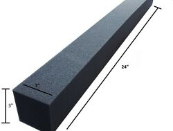 8 Pc Acoustic Soundproofing Foam Corner  3 X 3 X 24 Charcoal Free Shipping
