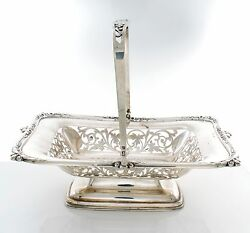 Antique English Sterling Reticulated Basket By Whitehouse And Sons Circa 1901