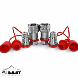 1/2 Ag Hydraulic Quick Connect Couplers Couplings Poppet Pioneer Style 2 Sets