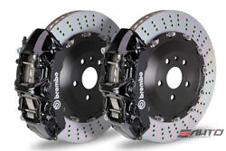 Brembo Front GT BBK Brake 6 pot Black 405x34 Drill Rotor LX570 Land Crusier 16+