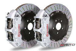 Brembo Front GT BBK Brake 6 Pot Silver 405x34 Drill Rotor LX570 Land Crusier 16+