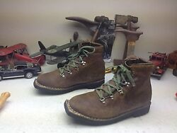 Vintage Vasque Brown Leather Lace Up Square Toe Mountaineer Ski Boss Boots 12d