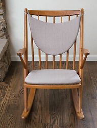 2 Piece Set Replacement Cushions For Frank Reenskaug Rocking Chair - Mid Century