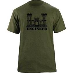Army Engineer Branch Insignia Castle Veteran Graphic T-shirt Tri-blend