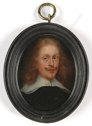Portrait Of A Man Dutch Oil On Copper Miniature 1650/60s