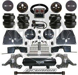 Chevy C10 71-72 Front / Rear Air Bag Suspension Kit W/ Tank Compressor Spindles