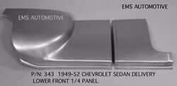Chevrolet Chevy Sedan Delivery Front Quarter 1/4 Panel Right 1949-1952 343r Ems