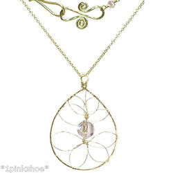 Necker 1-27 Drop Hoop Necklace With Stone And Metal Choice