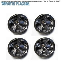 14-6 Vintage Hurst Wheels Style Set Of 4 Gm 14x6 With Spinner Cap