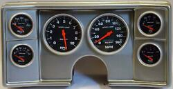 82-88 Chevy G Body Silver Dash Carrier W/ Auto Meter Sport Comp Electric Gauges