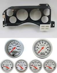 87-89 Mustang Carbon Dash Carrier W/ Auto Meter Ultra Lite Electric Gauges