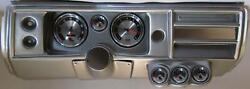 68 Chevelle Silver Dash Carrier W/ Auto Meter 5 American Muscle Gauges No Astro