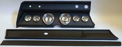 66 Chevelle Black Dash Carrier W/ Auto Meter American Muscle Gauges