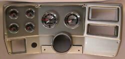 84-87 Chevy Truck Silver Dash Carrier W/ Auto Meter American Muscle Gauges