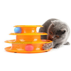 Pet Cat Kitty Crazy Funny Ball Disk Interactive Amusement Plate Trilaminar Toy