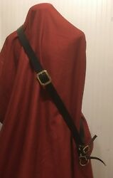 1.5quot; width Top Quality Leather Baldric loop or buckle SCA Pirate SCA LARP