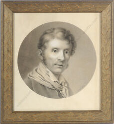 Robert Theer 1808-1863 Partial Copy After The Self-portrait Of J.b. Lampi