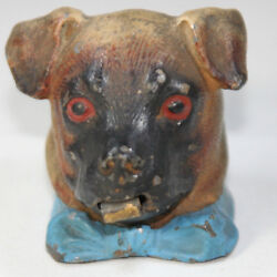Dog In Bow Tie Tape Measure Metal Spring C1800 Figural Novelty Measuring Tape