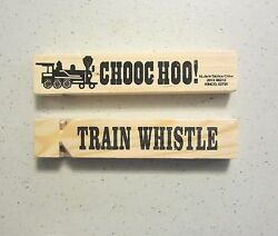35 NEW WOODEN TRAIN WHISTLES 5