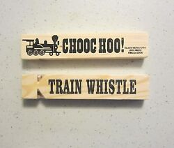 60 NEW WOODEN TRAIN WHISTLES 5