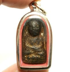 Blessed In 1954 Lp Tuad Thuad Pim Phra Rod Thai Buddha Amulet Lucky Rich Pendant