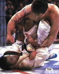 Royce Gracie And Dan Severn Signed 8x10 Photo Psa/dna 1994 Ufc 4 Picture Autograph