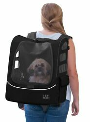 Pet Gear I-GO2 Plus Traveler Rolling Backpack Carrier for Cats and Dogs Black
