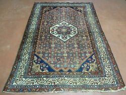 4and039 X 7and039 Antique Hand Made Turkish Sivas Floral Oriental Wool Rug Organic