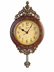 Elegant Traditional Decorative Hand Painted Modern Grandfather Wall Clock WS