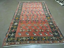 5and039 X 8and039 Antique Turkish Karabagh Rug Hand Made Wool Vegy Organic Dyes Red Nice