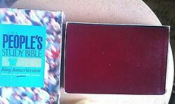 The People's Study Bible- King James -burgundy Deluxe Bonded Leather Brand New