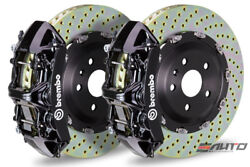 BREMBO Front GT Brake 6P Caliper Black 380x34 Disc Rotor 4200GT GranSport 02-07
