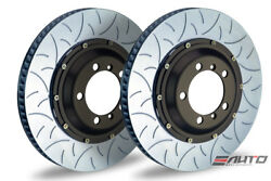 Brembo Rear 2pc Brake Rotor Disc 350x28 Type3 Slot 997 911 Gt3 Cup 05-11