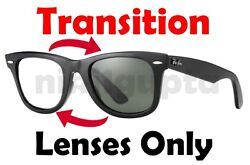 TRANSITION GREY RB2140 WayFarer Anti Glare Replacement Lenses Ray Ban 50mm 54mm