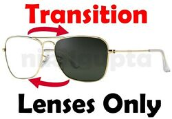 TRANSITIONS GREY RB3136 Caravan Anti Glare Replacement Lenses Ray Ban 55mm 58mm