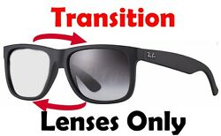 TRANSITIONS GREY RB4165 Justin Anti Glare Replacement Lenses Ray Ban 54mm New