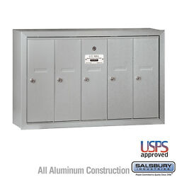 5 Door - Vertical Commercial Locking Apartment Mailbox - Usps Access