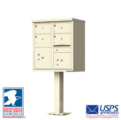 4 Door Locking Cluster Mailbox Cbu - Usps Access - Free Shipping And Bolt Kit