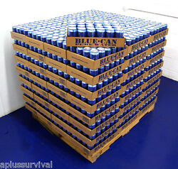 96 Cans Of Blue Can Emergency Survival Drinking Water 50 Year Shelf Life