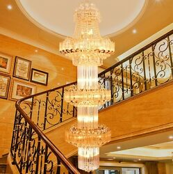 luxury K9 villa penthouse staircase chandelier Hotels engineering light 7003