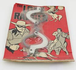 Vintage The Lone Ranger Hand Cuffs Keys 1966 Wrather Corporation Made In Japan