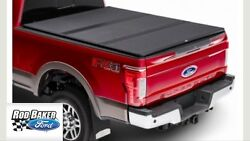 2017 Super Duty Tonneau Cover Hard Folding By Rev Black For 8.0 Bed