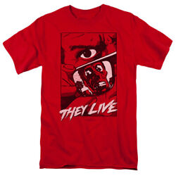 They Live Sci-fi Horror Comedy Film Graphic Poster Adult T-shirt Tee