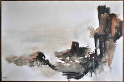 1973 Popo And Ruby Lee Original Oil Painting On Canvas Ojai California 36x24