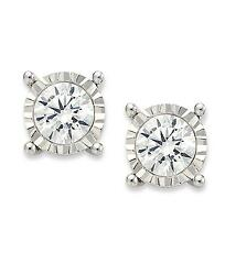 White Gold Diamond Stud Earrings - Select Carat Weight Options