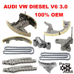 Engine Timing Chain Kit Guidestensioners Fits Audi Q7 Vw Touareg Diesel 3.0