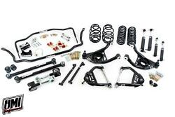 68-72 Chevelle Umi Performance Suspension Kit 1 Lower Coilovers Stage 3.5 Black